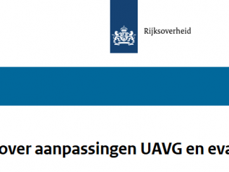 Aanpassingen AVG UAVG evaluatie brief minister Dekker